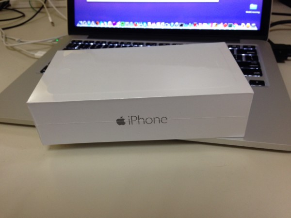 The iPhone 6 Plus box before opening it.