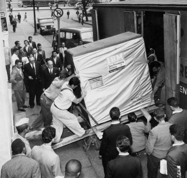 IBM 5 MB hard drive from 1956